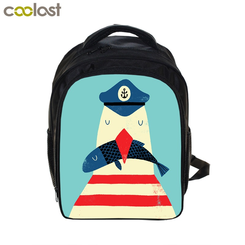 "Wholesale Custom Fashion 13"" School Backpack Book Bags with British Style Printing for 3-6 years old kids Boys Girls 2017 NEW"