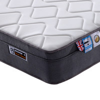 Wholesale Rolled up Euro Top Bed Mattress with Spring