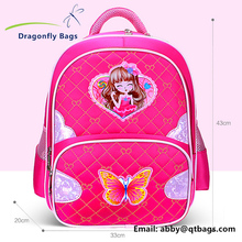 Cartoon butterfly backpack school bag for kids