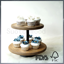 Personalized wooden cupcake stand small wooden dessert table cake display stand