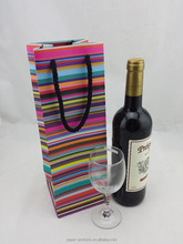 Colorful balloon wine paper bag for gift,low cost paper bag