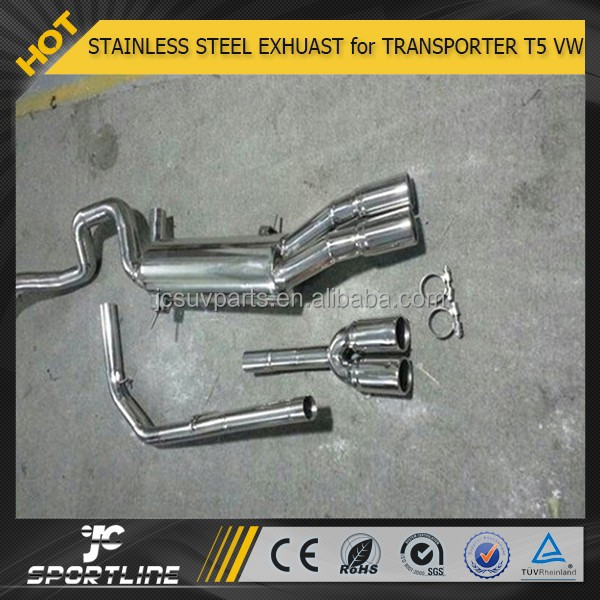 STAINLESS STEEL TRANSPORTER T5 Facelift EXHUAST for VW CARAVELLE 09UP