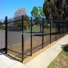 High security double curved steel pipe spear top metal fence with trade assurance