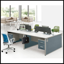 H50-08 Modern Design Aluminium Frame Glass Office Desk workstation for 4 person Office workstation