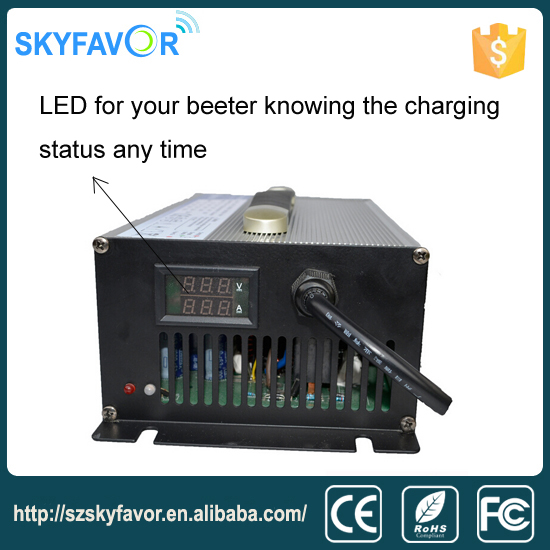 Good quality automotive 72V 20A Golf cart battery charger with LED display