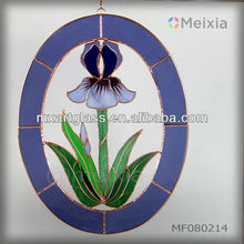 MF080214 china wholesale tiffany style stained glass wall hanging panel window decoration for home decoration piece
