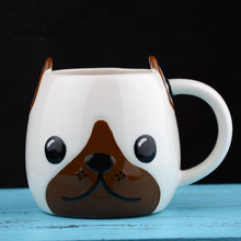 Factory directly Ceramic Cup 3D Dog Innovative Coffee Mug for kids gifts