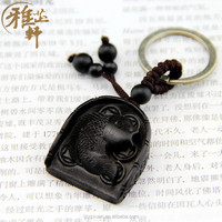 Hot Selling Fish Shape Compact Custom Blank Wood Carved Key Chain For Wholesale