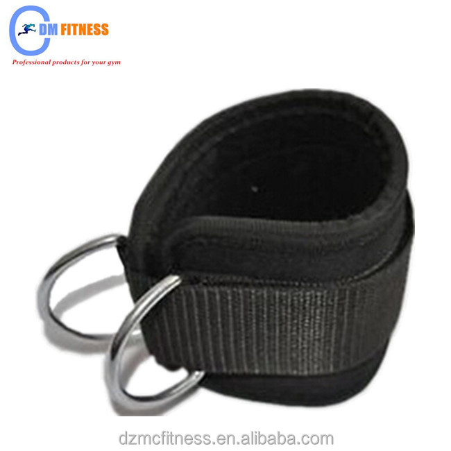 Weight lifting ankle cable strap D-ring multi gym thigh leg pulley strap lifting fitness exercise training <strong>equipment</strong>
