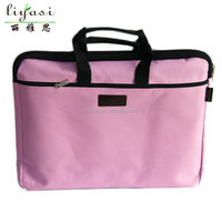 wholesale promotional pink portable handled oxford laptop bag for business briefcase document bag container