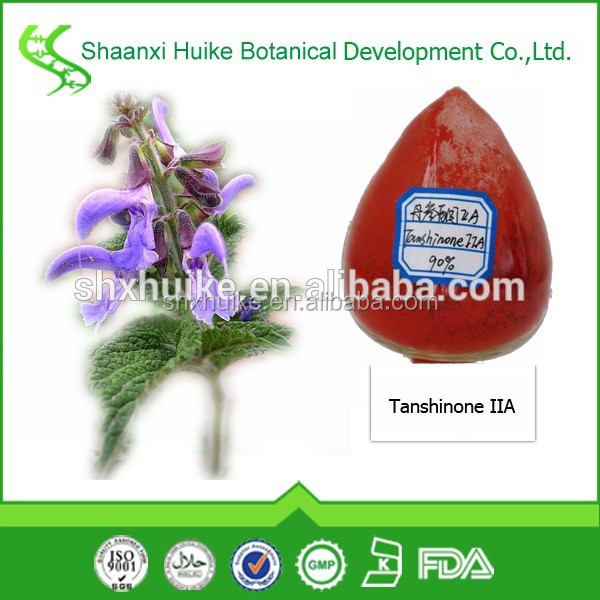 High Quality Salvia miltiorrhiza Extract Powder Danshen Root extract 5%-10% Tanshinone IIA
