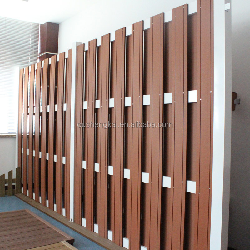 1800*1800mm with 143*13 board European outdoor basic wood plastic composite fence for garden decoration