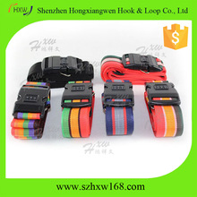 2016 custom coloured 3 password lock named luggage straps