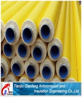 High quality yellow jacket polyurethane foam insulation steel pipe