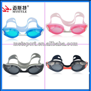 High quality silicone swimming goggles