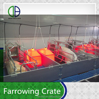 pig crates pig farm use equipment hot galvanized farrowing crate breeding pen