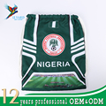 Custom logo Russia world cup sports bags 2018 Nigeria drawstring backpack