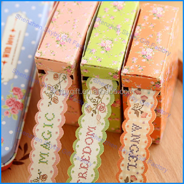 Colorful Waves Paper Rural Decoration Adhesive Tape