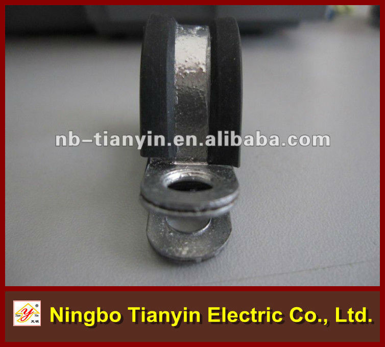 12.7mm bandwidth Rubber lined R shape tube clip