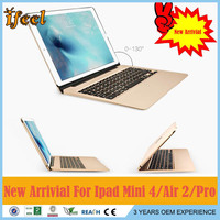 Ultra Thin Magnetic Detachable Flip Aluminum Alloy Keyboard With LED backlit keys For Ipad Air 2