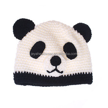 Kids knitted animal hats warm winter knitting caps custom panda children hats