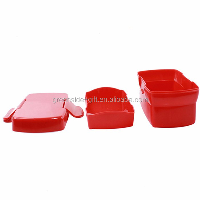 Greenside Factory price wholesale red plastic tableware lunch box