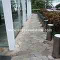yellow slate paving stone Japanese style yellow slate decorative flooring stone garden floor stone slate price m2