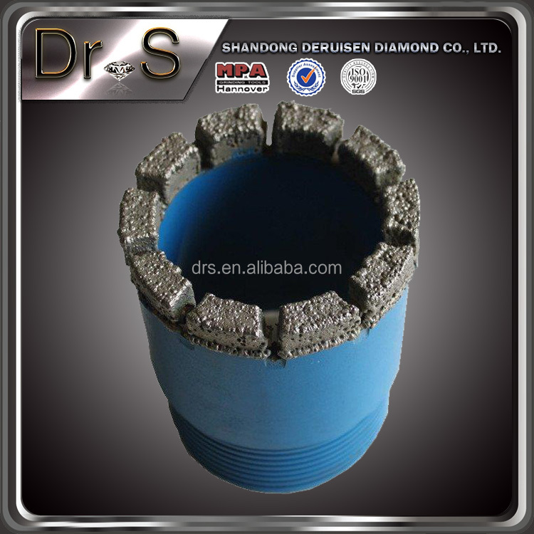 High Efficiency Electroplated Diamond Core Drill Bits For Hard Rock