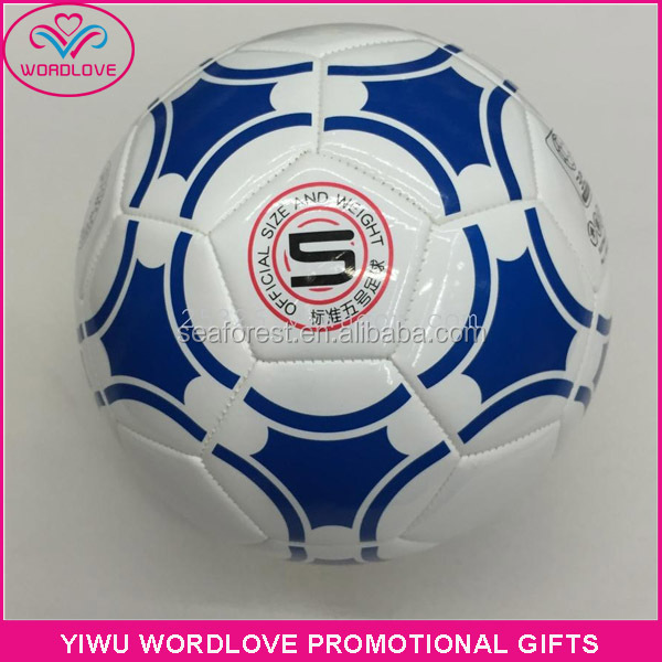 machine sewn printed sport soccer ball,promotion custom PU leather football soccer for match