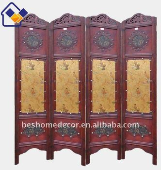 wooden antique screen separators,caved wood room divider,antique wooden room divider