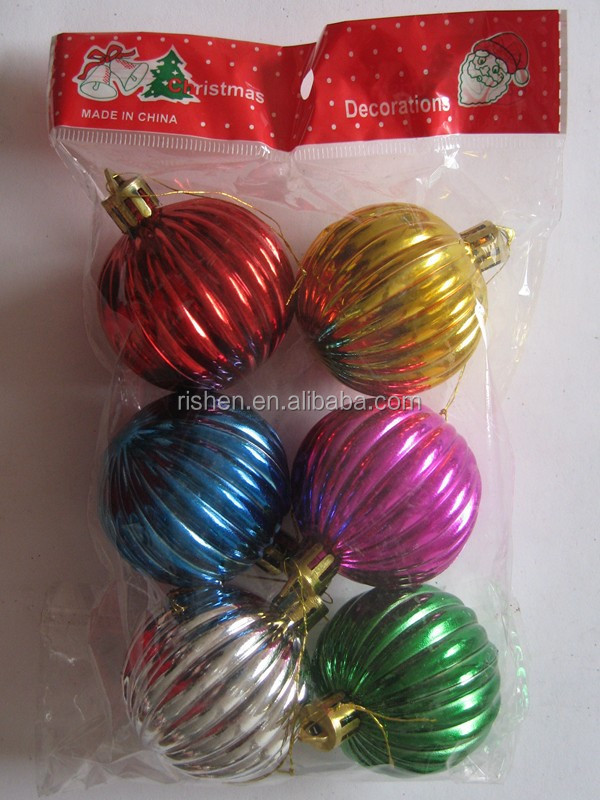 different colors spiral pumpkin christmas ball unique shiny plastic christmas ornaments ball