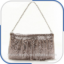 luxury metallic cloth sequin fabric metal mesh for bags