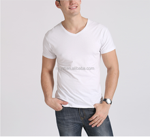 2016 new style polyester cotton OEM Tee white cotton jersey tshirt