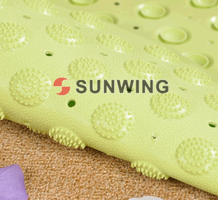 anti-slip bath mat changes color with microfiber chenille