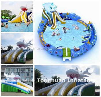 inflatable onland water park for kids and adults