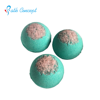 bead embellish on top bath bomb