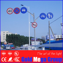 High quality galvanized steel powder coated road sign poles, traffic signs and pole manufacturer