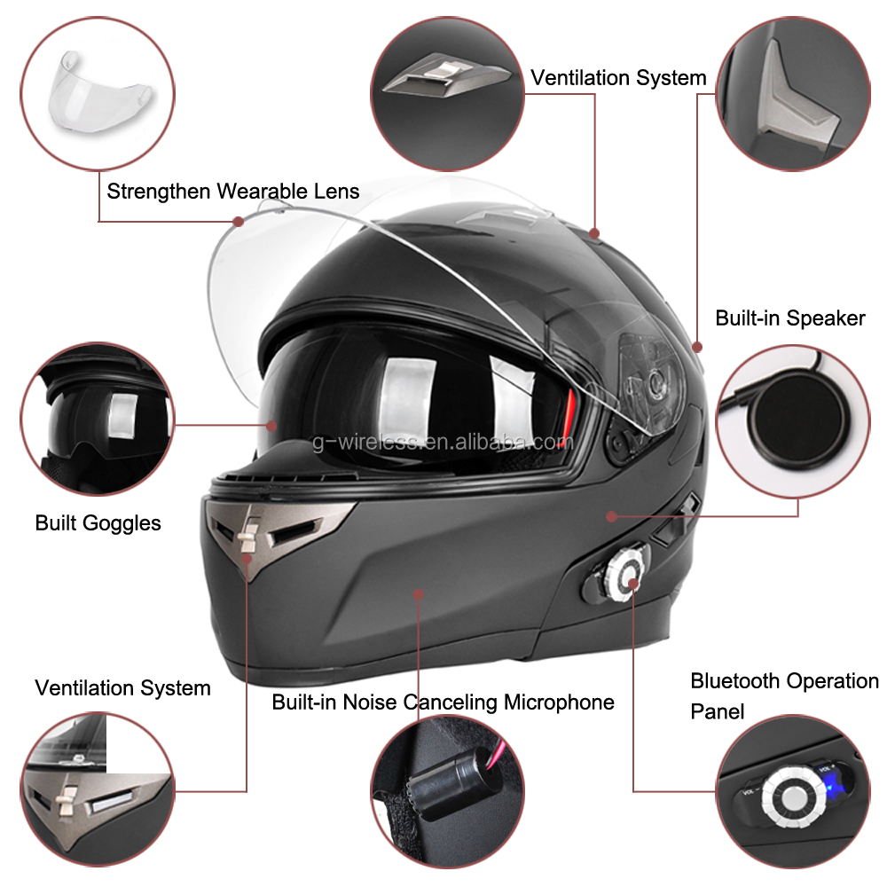 BM2S 955 Motorcycle Helmet For Half Face Double Visors Quality ABS Road Racing Capacete Motos Motorcycle