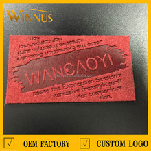 custom microfiber leather casual garment pu labels for jeans china