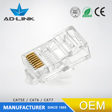 High quality male rj45 cable cat5e/cat6 utp cable crystal plug 8P8C