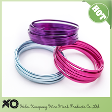 anodized aluminum wire/DIY crafts colored flat aluminum wire