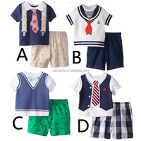 Baby boy clothing sets soft cotton vintage romper for baby