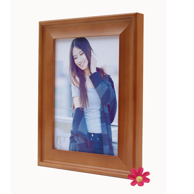 High quality full hand-polished wood picture frame /The factory of xiashan tiancheng wood photo frame