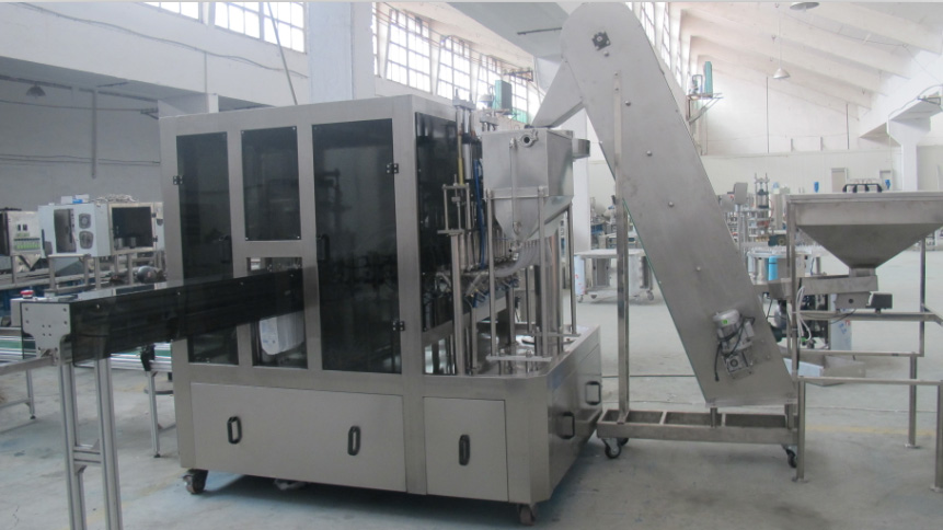 automatic stand up pouch filling  capping machine customized