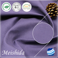 MEISHIDA 100% cotton solid dyeing fabric 32*32/130*70 twill for garment