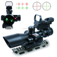 2.5-10*40/R+HD101 Hunting Tactical Riflescope w/ Red Laser & Holographic Green / Red Dot Sight Airsoft