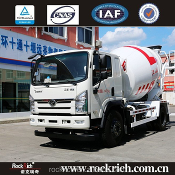 Left Hand Drive Self loading 3 cubic meters concrete mixer truck dimensions