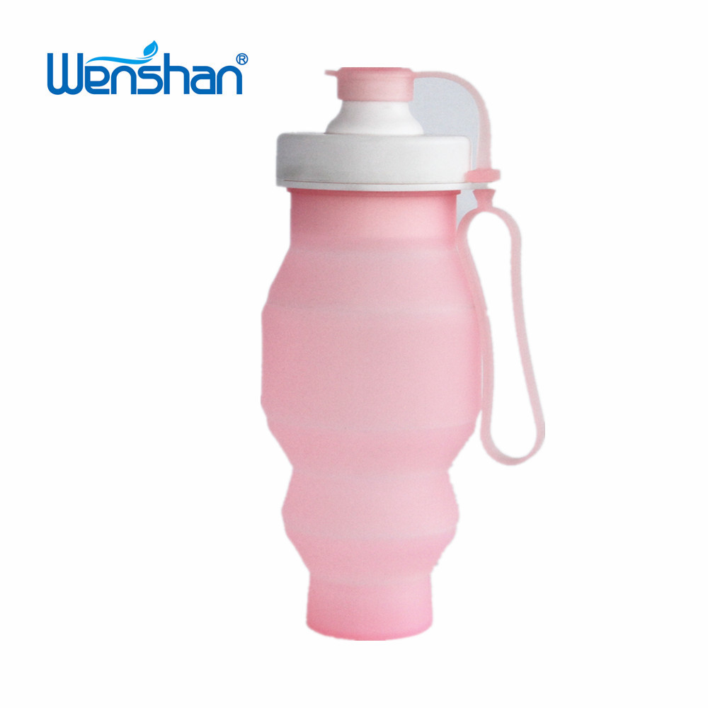 Hot Selling Wholsale Outdoor BPA Free Portable Collapsible Silicone Foldable Sports Water Bottle