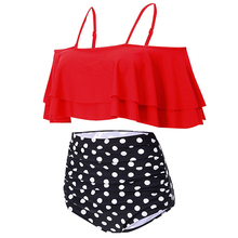 Paypal accept dot founce 2 piece bathing suit shiny red bikini swimwear 2014 new young girl swimsuit models