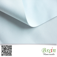 High Quality White Color Polyester Material Hotel Project 4 Pass Flame Retardant Blackout Curtain Fabric